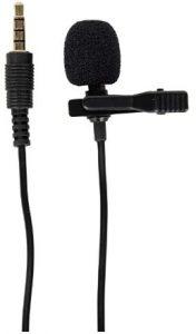 जेनेरिक 3.5 मिमी क्लिप मिनी लैपल लैवलियर माइक्रोफोन (ब्लैक) पर